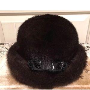 Vintage Lenore Marshall NY Sakowitz Mink Fur Hat
